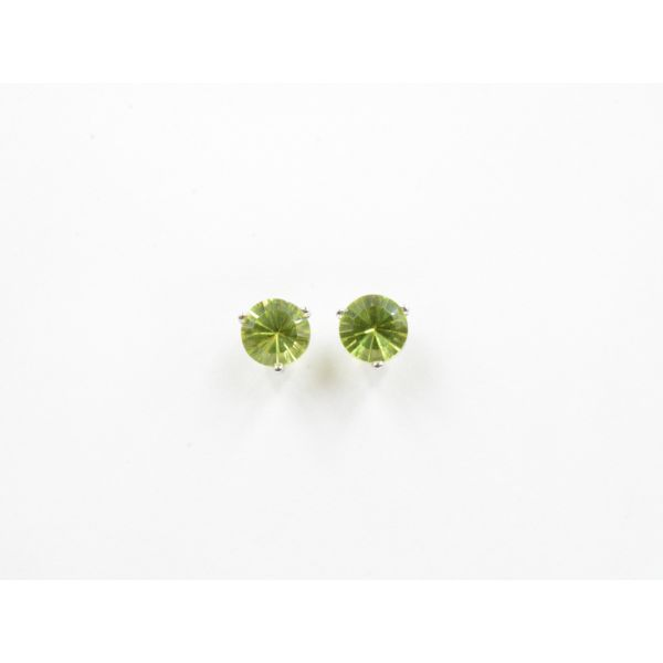 SunBurst Peridot Martini-Stud Earrings	 Wyatt's Jewelers Seattle, WA
