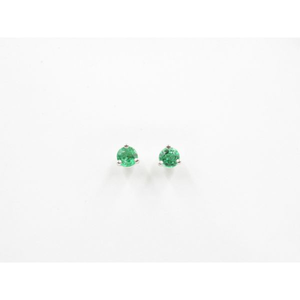 Emerald Stud Earrings Wyatt's Jewelers Seattle, WA